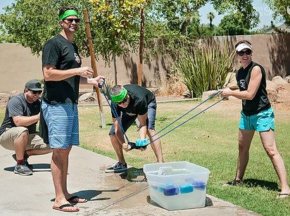 Sponge Launch | 27 Insanely Fun Outdoor Games You'll Want To Play All Summer Long