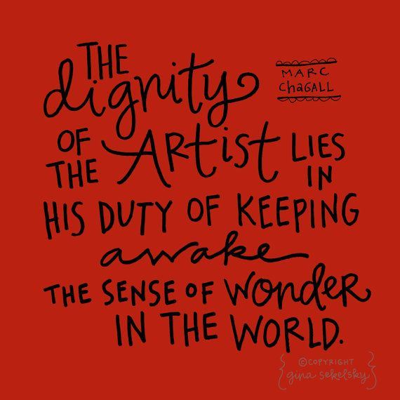 Marc Chagall quote: printable PDF on etsy