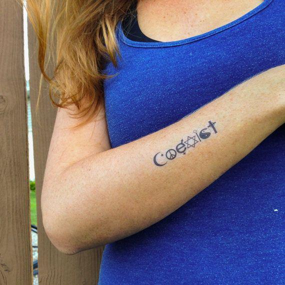 Best 25 Peace Sign Tattoos Ideas On Pinterest: Best 25+ Coexist Tattoo Ideas On Pinterest