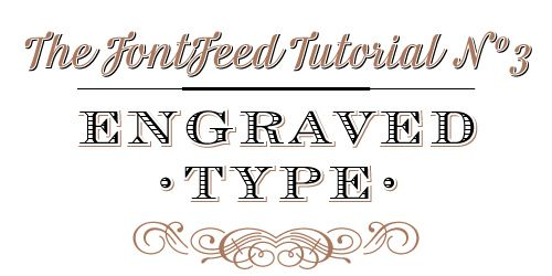 Create your own Festive Engraved Type with this tutorial on The FontFeed! #holidays