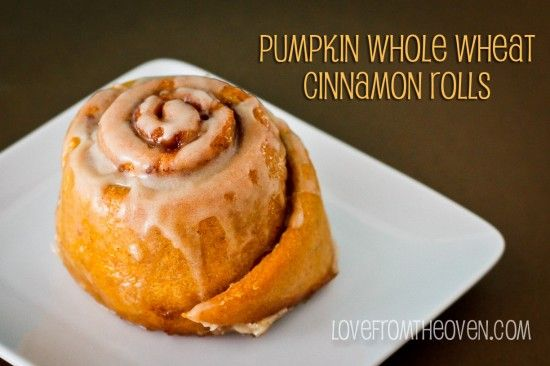Pumpkin Whole Wheat Cinnamon Rolls by Love From The Oven