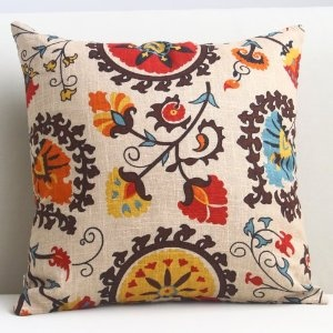 "Cushion Cover Multicoloured 43 X 43cm Boho Decor Throw Day Bed Couch Pillow Case :         .        Product name: Cushion Cover CC400  Size:17""x17"" (43cmx43cm)  Material: Linen Cotton  Cushion Cover only, Price is for 1pc.    Remark:   1.The Printing is in the front, no printing only natural color of linen in the back.  2.All cushions are handmade, so please understand there ma...Check Price >> http://gethotprice.com/appin/?t=B008NSLP3M"
