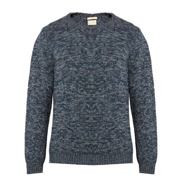 Massimo Alba Long-sleeved cashmere sweater (15,765 INR) ❤ liked on Polyvore featuring men's fashion, men's clothing, men's sweaters, mens crewneck sweaters, mens crew neck sweaters and mens cashmere sweaters
