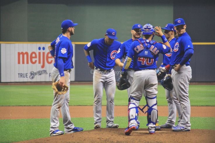 Willson Contreras, #Willy, Javier Baez, #ElMago, Kris Bryant, Addison Russell, Anthony Rizzo, Chicago Cubs Win 5-3! @ Miller Park, 9/21/17.