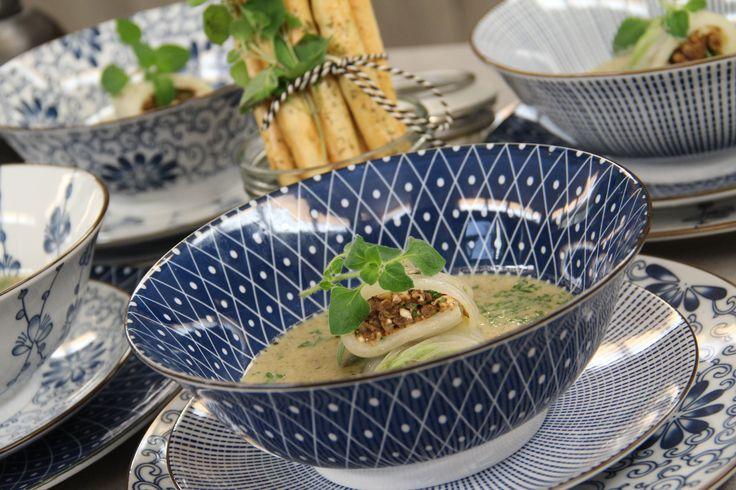 Broccolisoep met Chinese kool-rolletjes