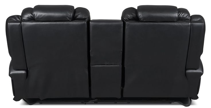"""Put luxury and convenience together and you have this sleek Lonzo power reclining loveseat. Each armrest flips up to reveal extra storage, while the built-in cup holders light up so you can see your drink in the dark. Press the power recline button to find your perfect lounging position. Need to charge your favourite electronics"""" Use the USB plug-in on either side of the loveseat for your cell phone. Wrapped in leather-look fabric with a diamond pattern on the seats, this amazing loveseat is…"""