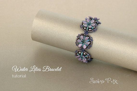 *P Crescent and Pip Beads Bracelet Tutorial  Beading by SidoniasBeads