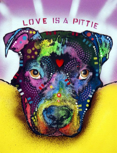 Love is a pit bull #bully #dogs #pitbulls #mypet