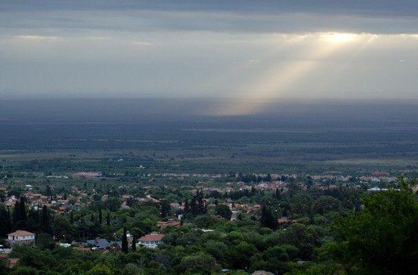 Merlo desde Parque Los Nogales.
