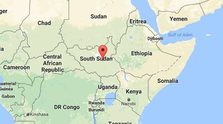 South Sudan: map of neighbours