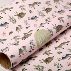 So pretty!  - Forest Animals Wrapping Paper by clapclapdesign on Etsy by matilda
