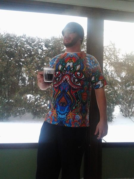 Steve looks badass in 'Dragon Heart'. Looks damn cold outside.