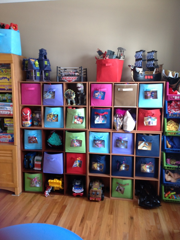 playroom storage bins with pictures for easy cleanup