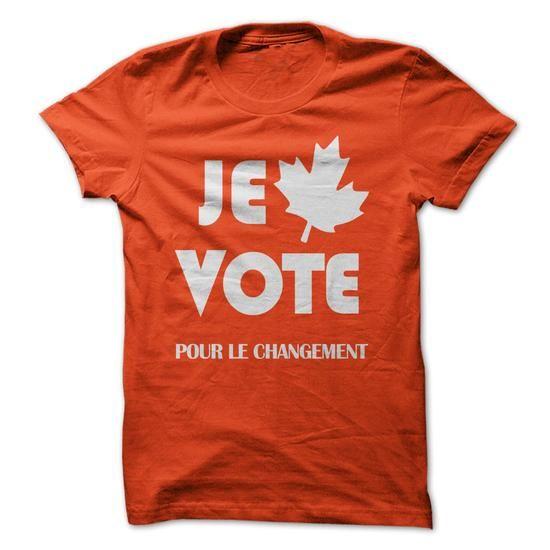 Je vote pour le changement #sunfrogshirt