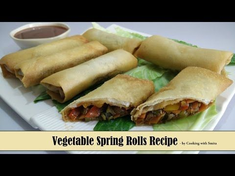 Vegetable Spring Rolls Recipe in Hindi by Cooking with Smita | Crispy & Tasty Chinese Appetizer - http://2lazy4cook.com/vegetable-spring-rolls-recipe-in-hindi-by-cooking-with-smita-crispy-tasty-chinese-appetizer/
