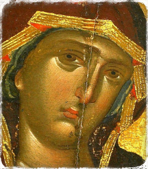 Panagia Hodegetria - detail, XIV century, Monastery of Vatopedi, Athos, Greece