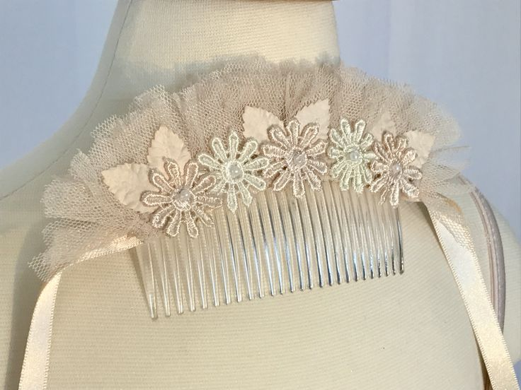 Lace and tulle headpiece