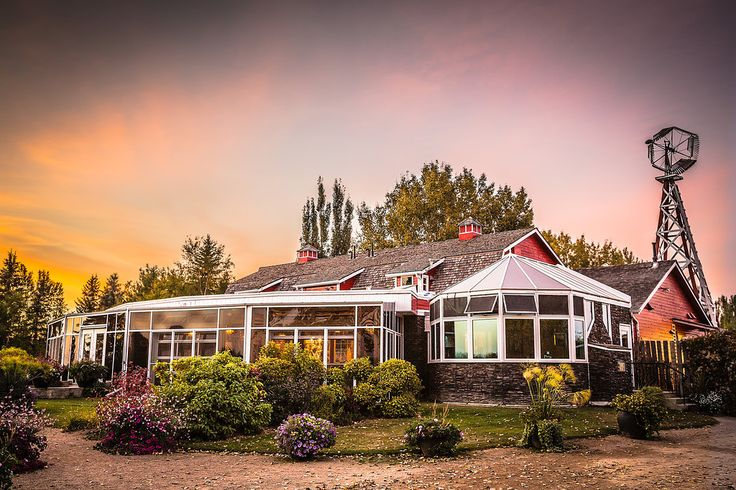 The Saskatoon Berry Barn is a restored red barn with a sun room out front.  When in season, you can pick the berries or also enjoy some amazing food in the restaurant.