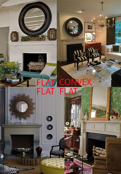 Why Choose A Convex Mirror For A Fireplace Mantle?  A new blog post with a great comparison.