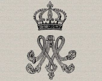 French Crest Emblem Crown Lions French Decor Wall Decor Art