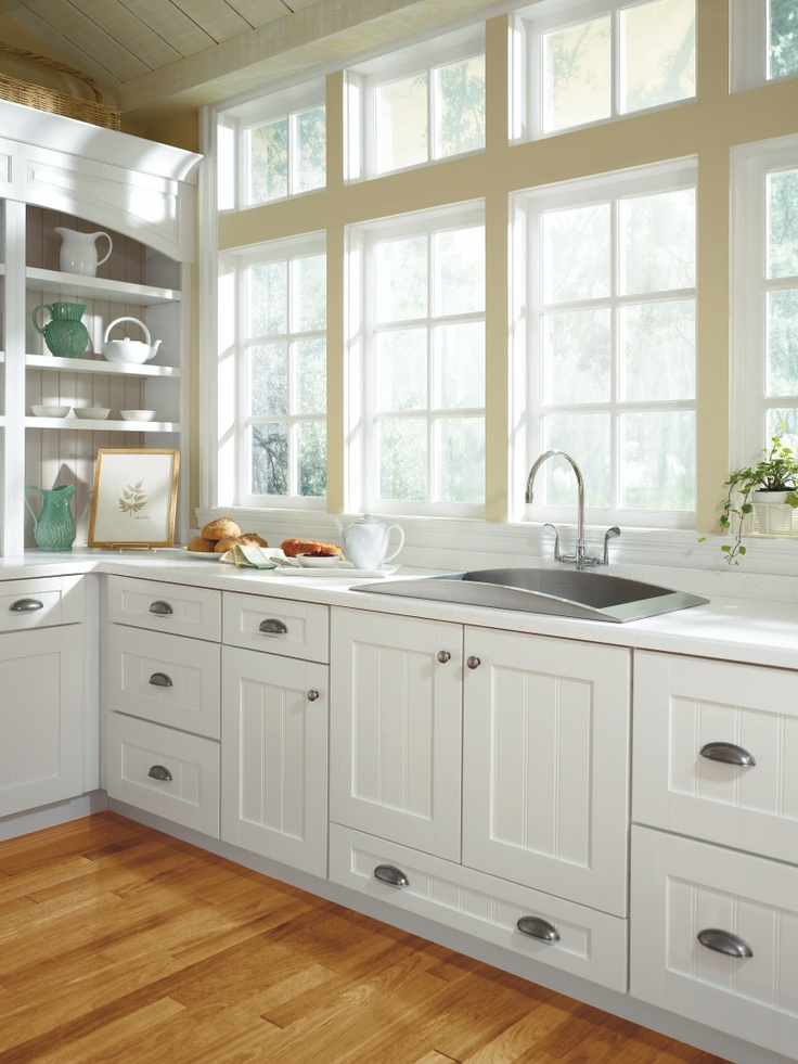 Kenston Purestyle Laminte White Kitchen Cabinets Home Depot