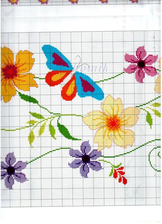 flower and butterfly runner 3/5