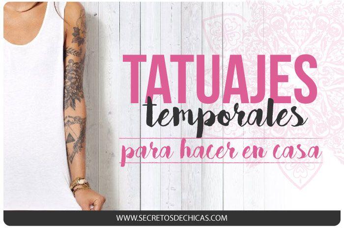 Hoy os traigo un post sobre cómo realizar tatuajes temporales de forma casera. Es una manera muy fácil que seguro que os gusta mucho. ¡Seguid leyendo y probadlo! Opción 1 1. Primero hay que buscar aquello que queremos tatuarnos. Podéis dibujarlo en un papel con un rotulador permanente, o bien buscar la plantilla por internet. …