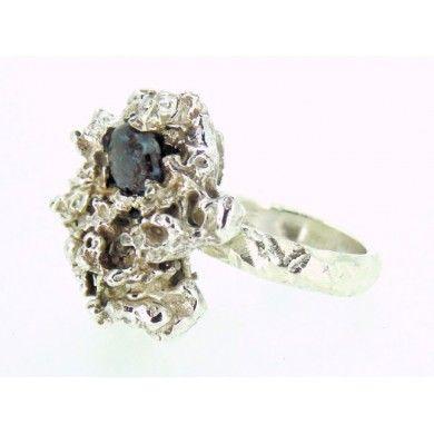 Anello linea Fusion in argento 925%° e opale cod.1142