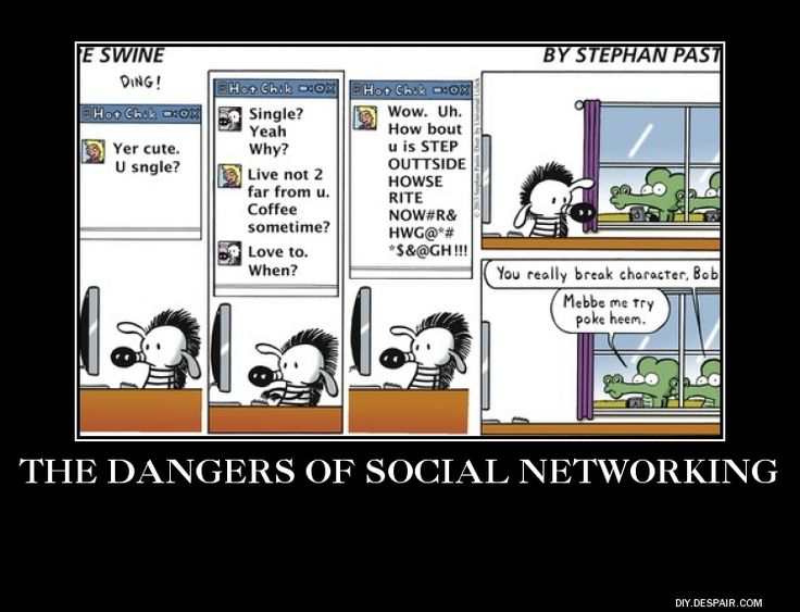 the danger of social media Social networking has drastically changed the way people interact with their friends, associates and family members although social networks, like twitter, facebook, google+, youtube, snapchat.