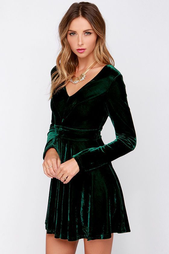 cool 6 fabulous choices for dark green Christmas dresses