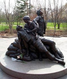 Have you seen this statue at the Vietnam Veterans Memorial (The Wall)? Gives me chills every time.