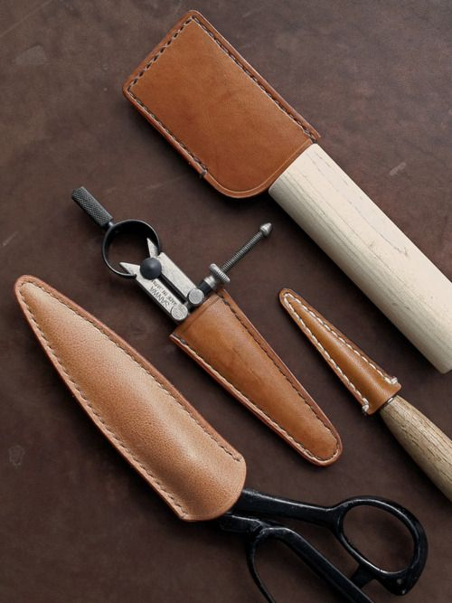 Leather tool cases