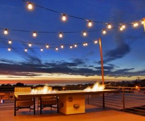 Outdoor Design, Amazing Outdoor String Lights Over The Wooden Modern Deck  Of Amazing Patio With