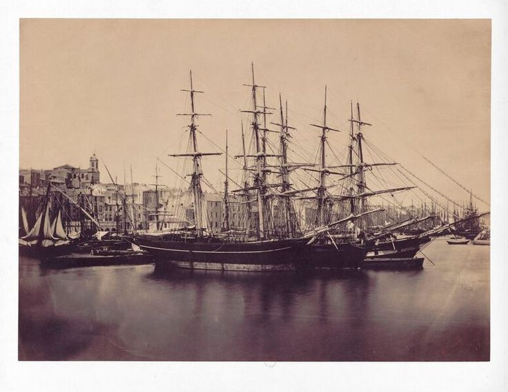 Ships in the Mediterranean. Photograph by Gustave Le Gray, 1857