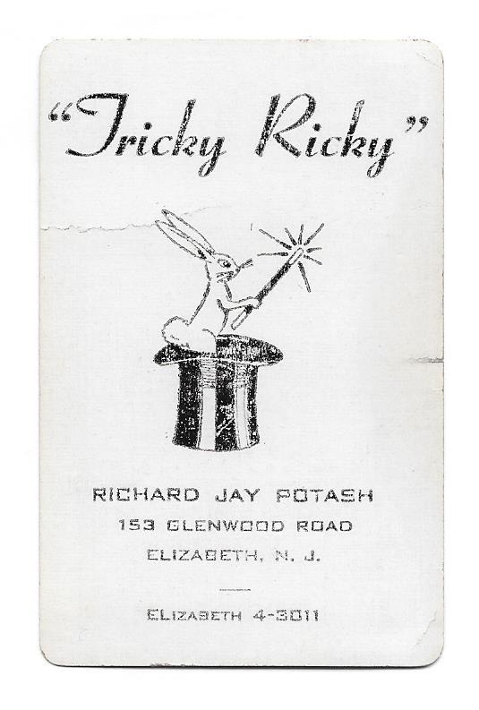 """Card for """"Tricky Ricky"""" Jay"""