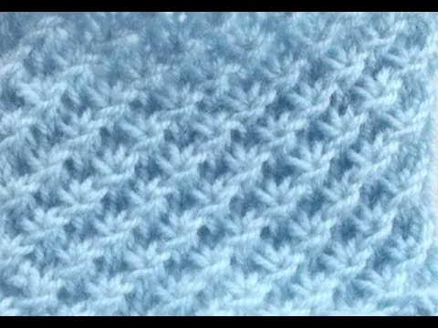 le point étoile au tricot, pas à pas facile