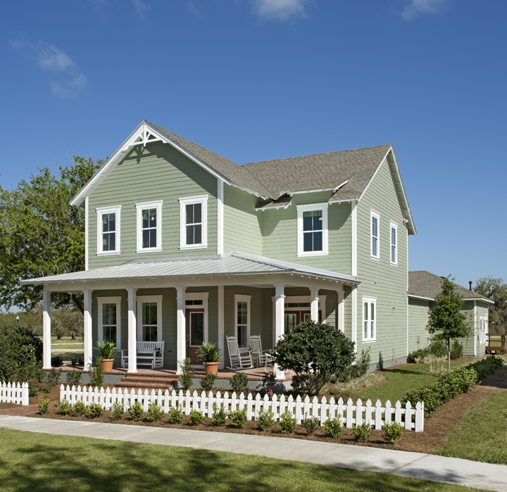 Country style home.  David Weekly Homes, the Seaside