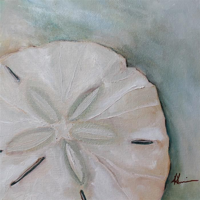 Original art for sale at UGallery.com | Sand Dollar No. 2 by Kristine Kainer | $475 | oil painting | 12' h x 12' w | http://www.ugallery.com...