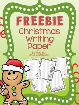 Enjoy this fun freebie! Christmas writing paper! Please be kind and leave feedback!  Thank you!