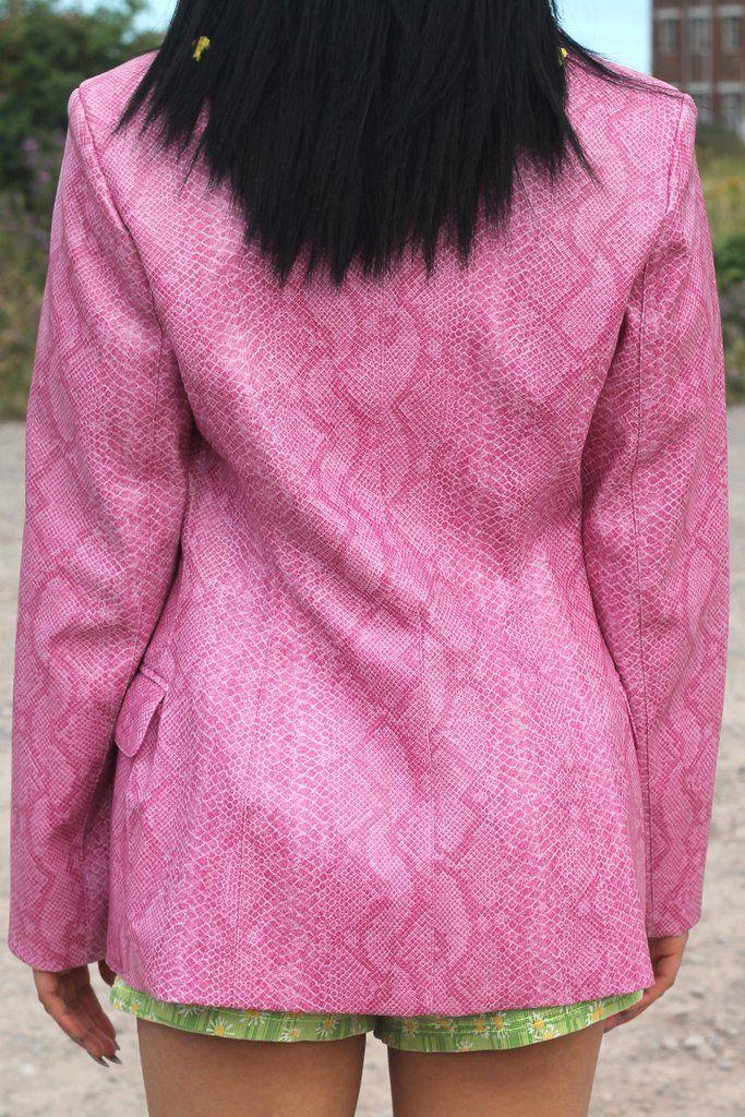 Pink Morgan De Toi Snake Print Blazer
