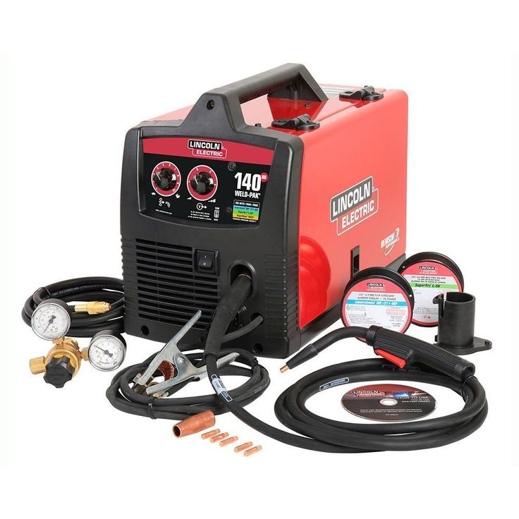 Lincoln Electric 140 Amp Weld Pak 140 HD MIG Wire Feed Welder with Magnum 100L #LincolnElectric