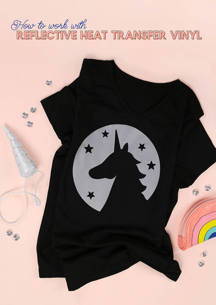 How To Work With Reflective Heat Transfer Vinyl Heat Transfer Vinyl Heat Transfer Kids Shirts