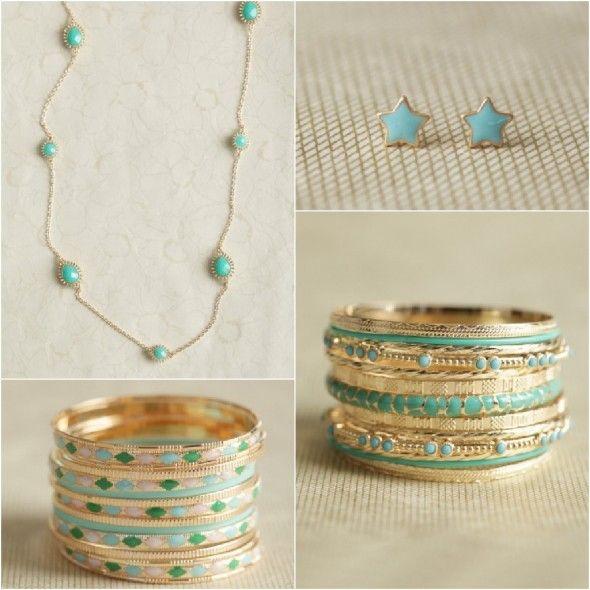 Turquoise Wedding Jewelry  from rusticweddingchic.com