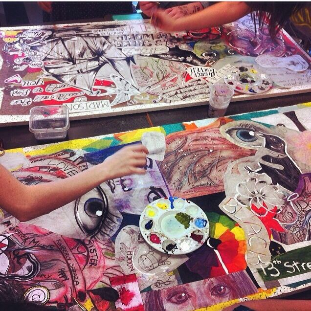 Cultural identity project at Byrne Creek Secondary- Gallery #wheatpaste #chinamarker #paint | Katarina Thorsen Art Blog