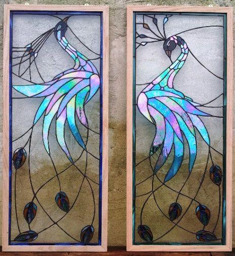 Paneles de vidrio de color Tornasolado del por TerrazaStainedGlass                                                                                                                                                                                 Más
