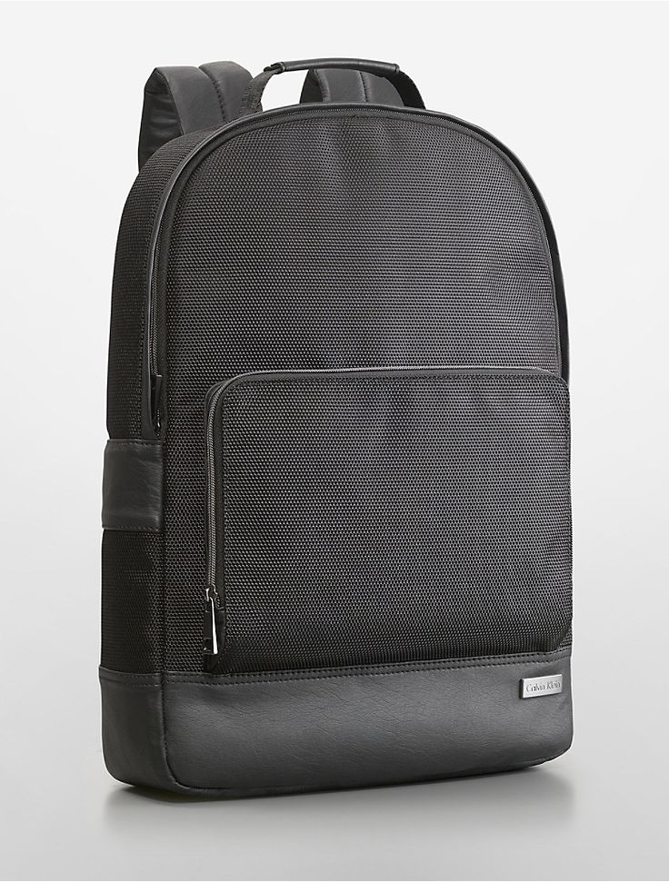 Alec City Tech Slim Backpack Calvin Klein Faux Leather