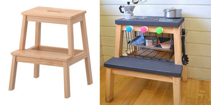 Maak het beste gebruik van IKEA meubels door ze een DIY make-over te geven met deze hacks. Tover de bekende BEKVÄM krukom tot speelkeuken voor de kids en maak van je ladekast een chic bureau. Creëer unieke opbergruimtes en accessoires met je eigen IKEA meubels en een klein beetje fantasie. Geen inspiratie of hulp nodig? …