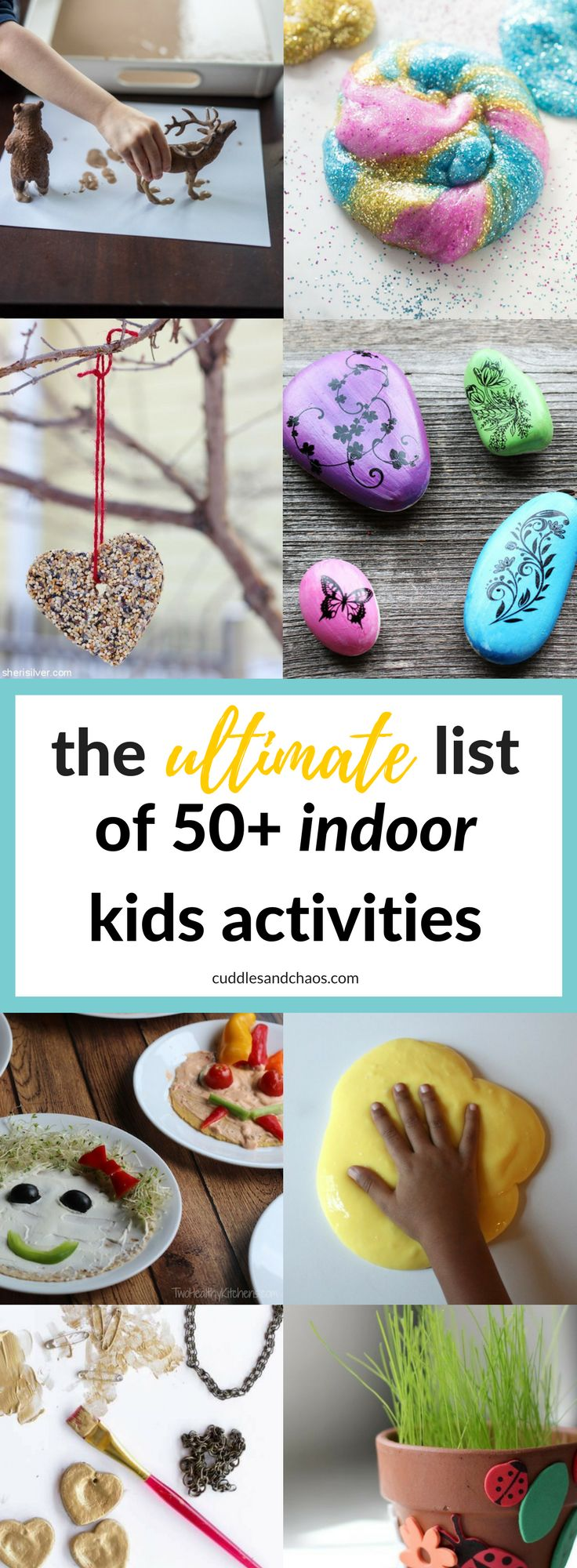 the ultimate list of 50+ indoor kids activities - #kidscrafts #kidsdiy #kidsfun #campmom
