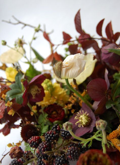 Wildflower & blackberry bouquet