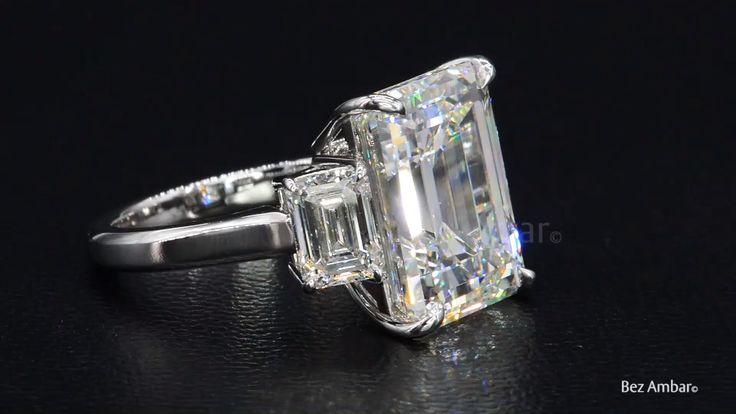 An enamoring three-stone diamond engagement ring from Bez Ambar